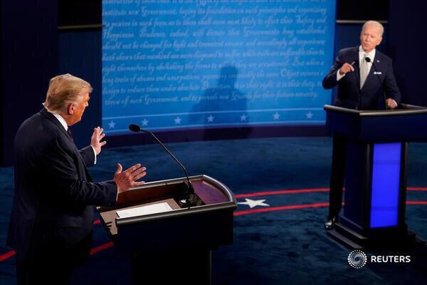 بایدن: نباید به ترامپ می گفتم دلقک، مناظره،مسابقه فریادزنی بود